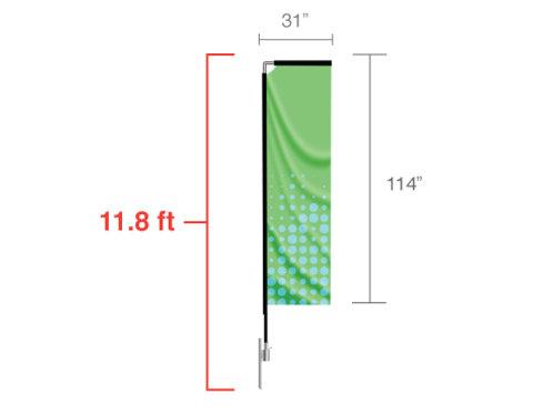 Rectangle Flag (Medium) 11.8