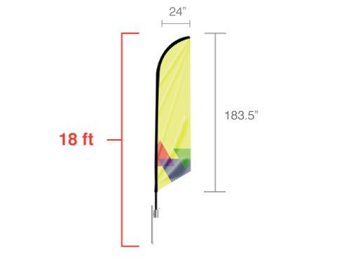 Feather Angled Flag XLarge 18ft