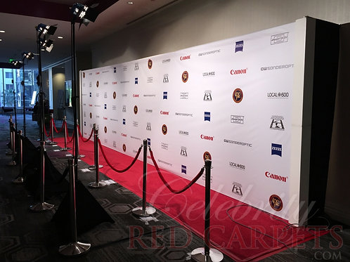 30ft STEP AND REPEAT PACKAGE - RENTAL