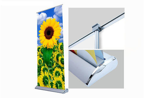 "Deluxe Retractable - Double Sided 33"" x 81"" (Hardware Only)"