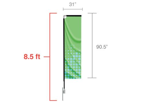 Rectangle Flag (Small) 8.5