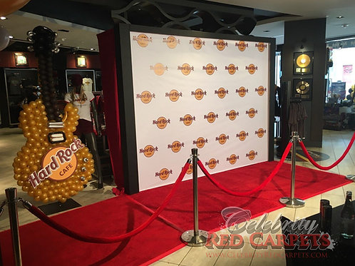 10ft STEP AND REPEAT PACKAGE - RENTAL