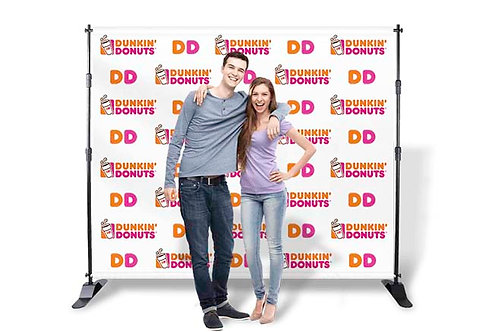 "10"" W x 7.5"" H Vinyl Step and Repeat Printed Banner Only (13oz.)"