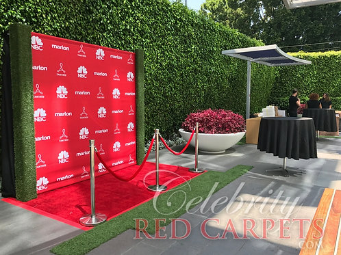 "8"" W x 8"" H Fabric Step and Repeat Printed Banner (9 oz. Wrinkle Free)"