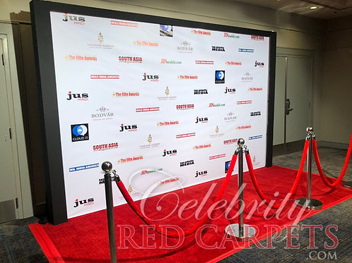 12ft STEP AND REPEAT PACKAGE - RENTAL