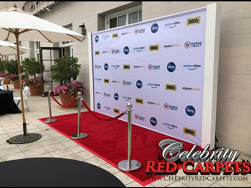"14"" W x 7.5"" H Vinyl Step and Repeat Printed Banner (13oz.)"