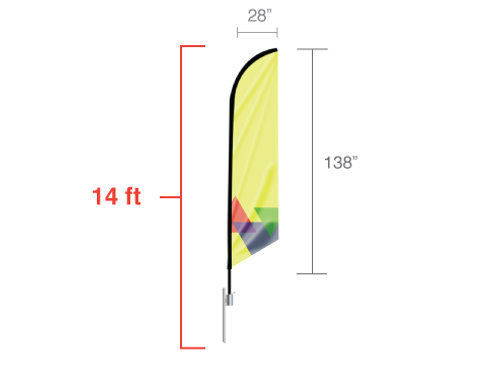 Feather Angled Flag Large 14ft