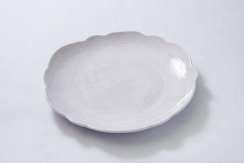 Melamine Scallop Dinner Plate - White