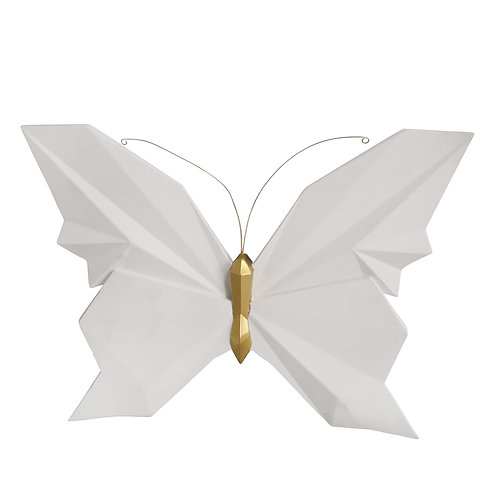 "Butterfly Wall Decor - 15"" White"