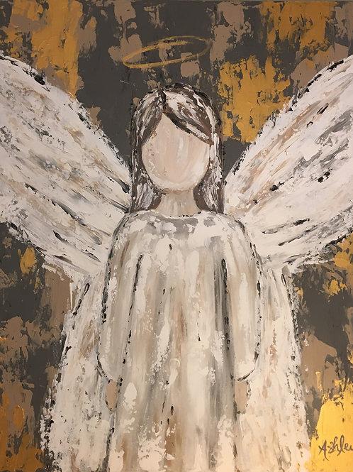 Acrylic Angel on Canvas - 24 x 30