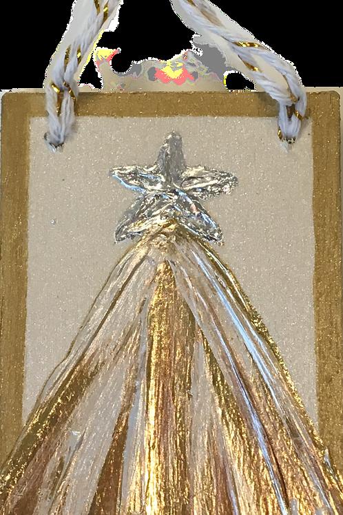 Acrylic Tree Ornament on Wood