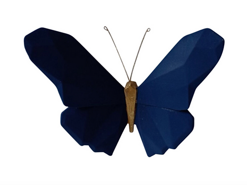 "Butterfly Wall Decor - 6"" Navy"