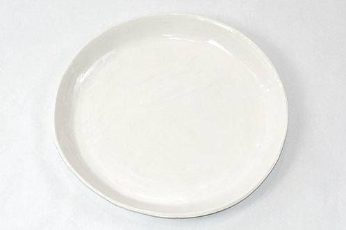 Melamine Large Round Tray, White