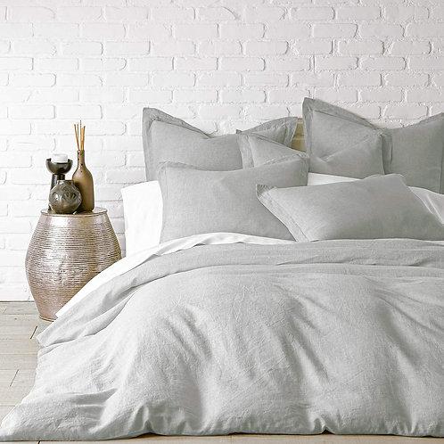 Washed Linen Duvet Cover - Light Grey