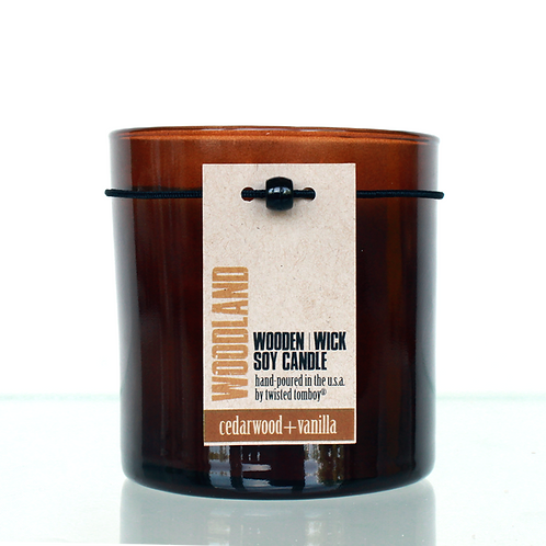 Wooden Wick Candle - Woodland