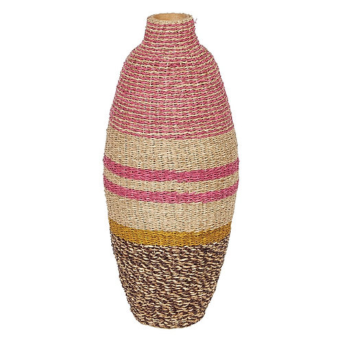 Bamboo and Seagrass Woven Vase