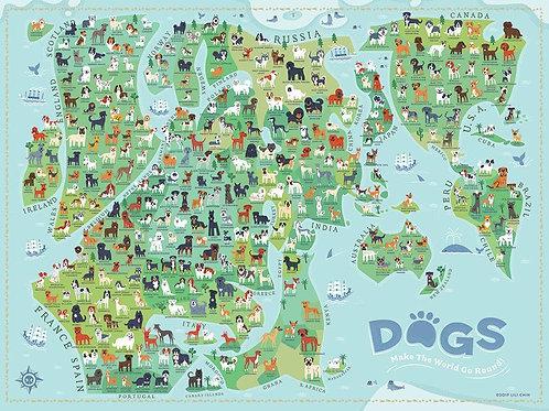 Dogs Around the World Puzzle - 1000 pcs