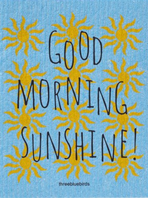 Swedish Dish Cloth - Good Morning Sunshine!