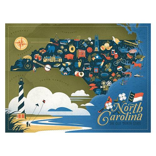 North Carolina Puzzle - 500 pcs
