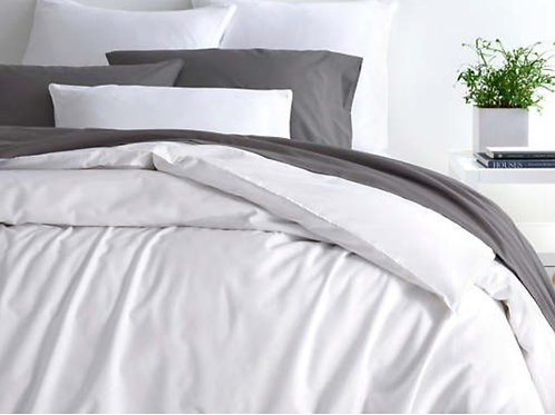 Essential Percale White Duvet Cover - Twin