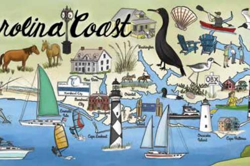 North Carolina Coast Puzzle - 750 pcs
