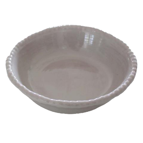 Melamine Beaded Soup/Cereal Bowl - Grey