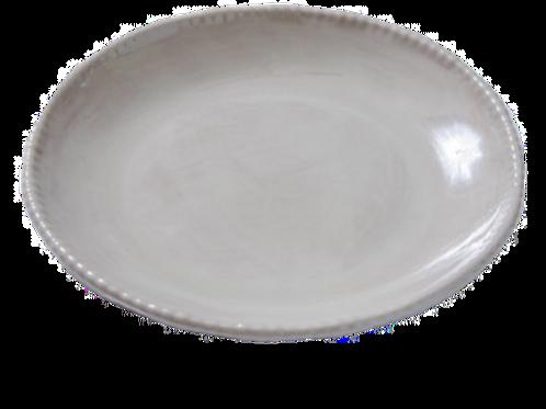 Melamine Beaded Dinner Plate - Taupe