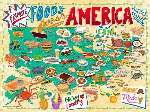Foods Across America Puzzle - 500 pcs