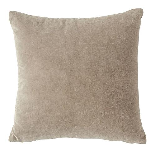 """Velvet Front 20"""" Pillow - Grey"""