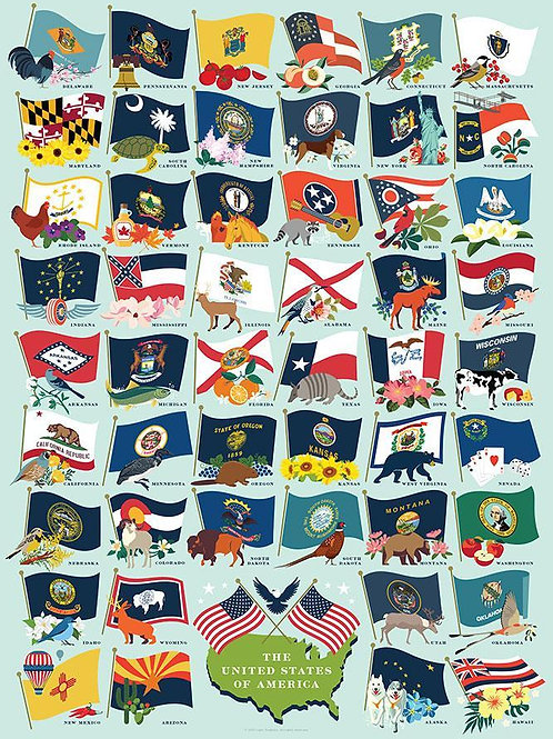 State Flags Puzzle - 1000 pcs