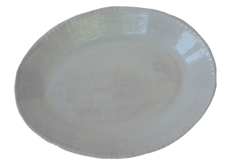 Melamine Beaded Serving Oval - Taupe
