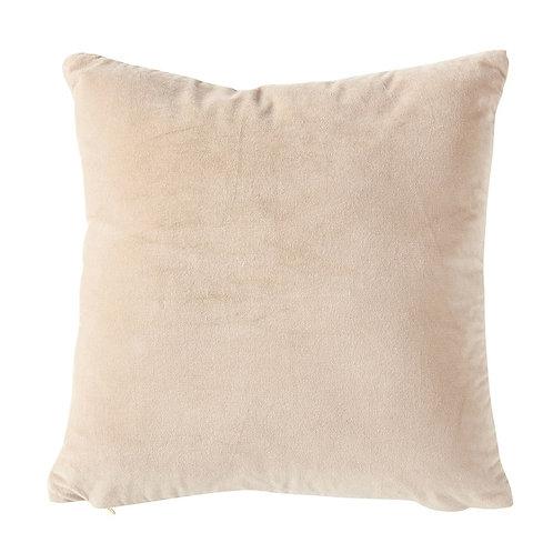 """Velvet Front 20"""" Pillow - Taupe"""