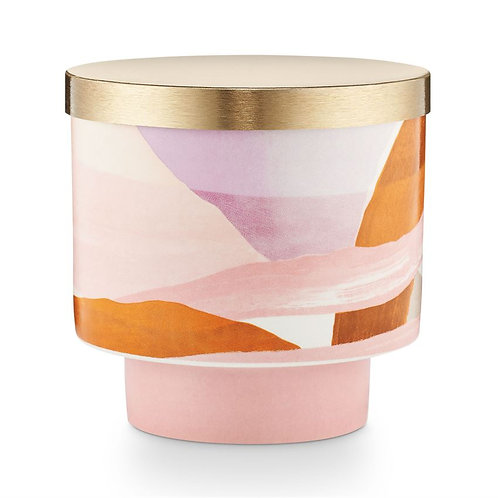 Coconut Milk Mango Ceramic Candle