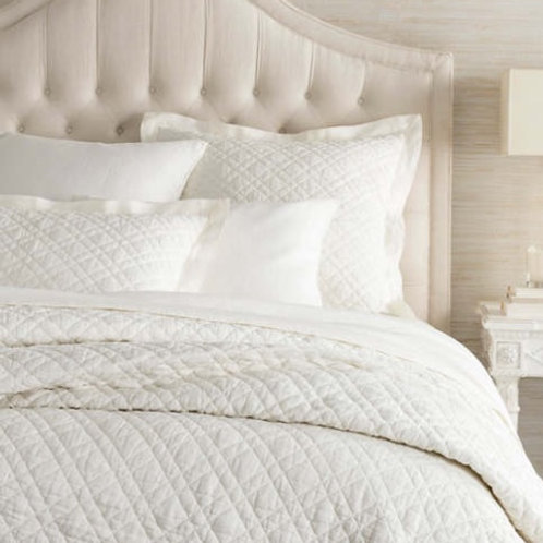 Washed Linen Ivory Twin Quilt