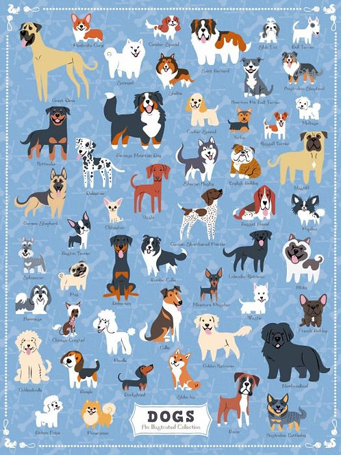 Dogs of America Puzzle - 500 pcs