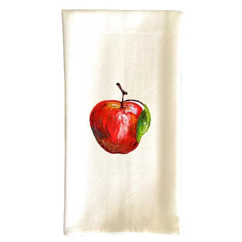 Cotton Dish Towel - Apple