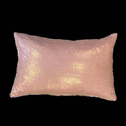 Rose Pink Metallic Custom Pillow