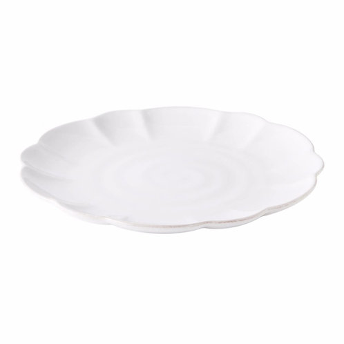 Simon Pearce Hartland Scallop Stone Dinner Plate