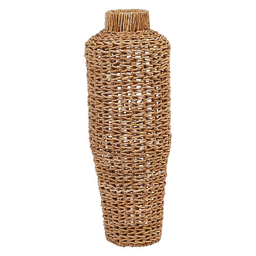 Hand-Woven Water Hyacinth Vase - Large