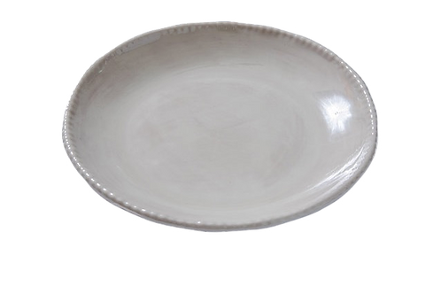 Melamine Beaded Salad Plate- Grey