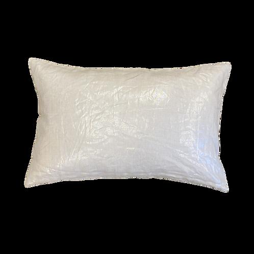 White Metallic Custom Pillow