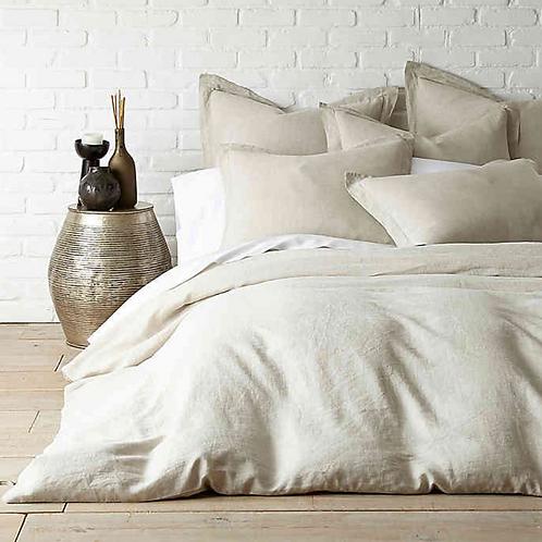 Washed Linen Duvet Cover - Natural