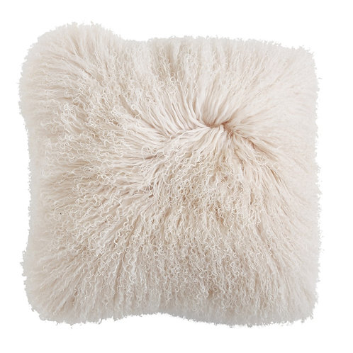 "Mongolian Lamb Fur 20"" Pillow"