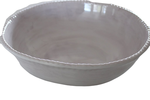 Melamine Beaded Serving Bowl - Grey