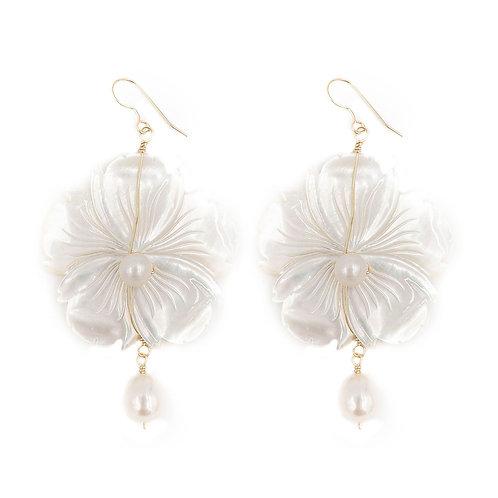 Dalia Earring - White Pearl