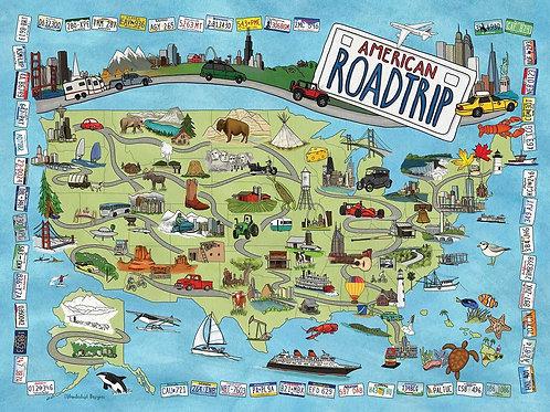 American Roadtrip Puzzle - 1000 pcs