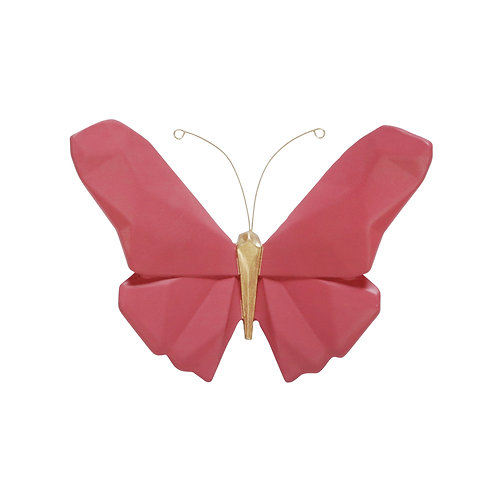"""Butterfly Wall Decor - 6"""" Pink"""