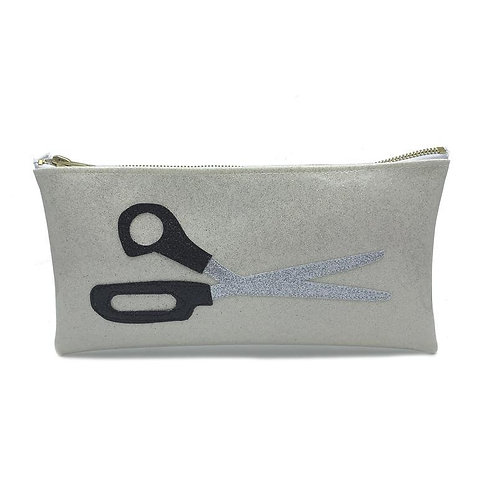 Scissors Zipper Pouch Clutch