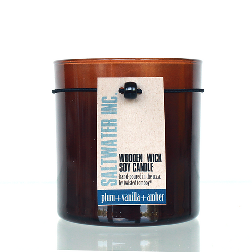 Wooden Wick Candle - Saltwater, Inc