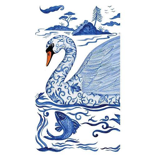 Empress Swan Guest Towels/Buffet Napkins